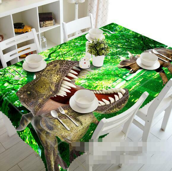 3D Dinosaur 85 Tablecloth Table Cover Cloth Birthday Party Event AJ WALLPAPER AU