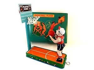 Image Is Loading RETRO TIN PLATE TABLETOP BASKETBALL PLAYER GAME BRAND