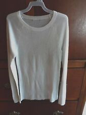 "PRIVATE BRAND Ivory L/s Fitted Rib Sweater  Regular S Bust - 26""  $44.90   #108"