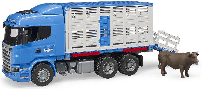 Bruder Scania R-Série bovins transport Jouet Camion Avec Vache 03549 NEUF