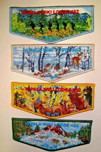 OA WIPALA WIKI LODGE 432 GRAND CANYON COUNCIL ARIZONA SEASONS FLAP 4-PATCH SET