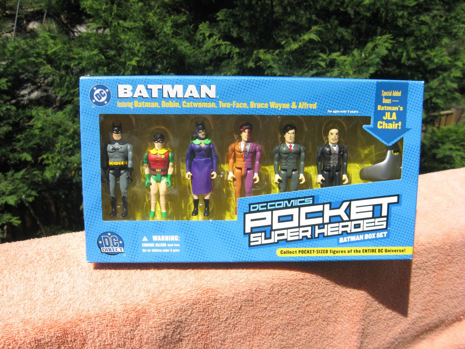 DC Direct Batuomo Pocket Super Heroes 6 cifras Set & Batuomo's JLA Chairnuovo