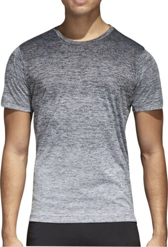 adidas FreeLift Gradient Short Sleeve Mens Training Top Grey