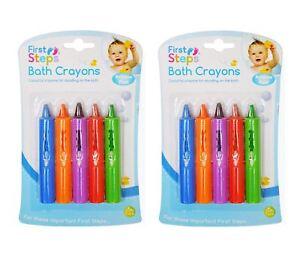 Pack-of-10-Baby-Bath-Crayons-Bathtime-Non-Toxic-5-Colours-Creative-Fun-Doodle