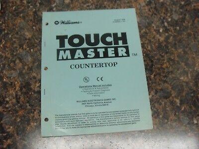 Atlanta Williams Touch Master Video Arcade Game Service Manual 356