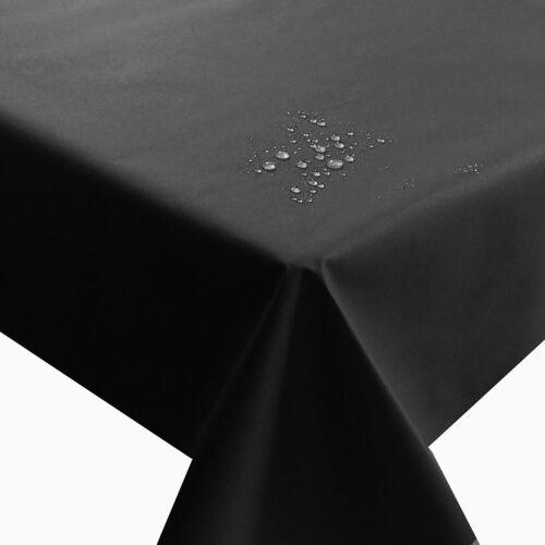 NL Meterware Tischdecke Stoff UNI Farbe und Größe wählbar Teflon Schnittkante