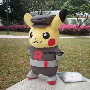 Nintendo-Pokemon-Center-Go-Pikachu-Team-Rocket-8-034-Plush-Toy-Stuffed-Animal-Doll
