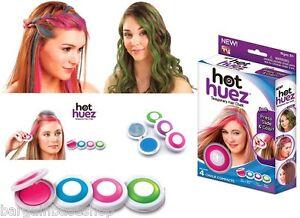 Hair Chalk Temporary Soft Pastel Colour Kit HOT HUEZ Hair Chalks - Hair colour chalk