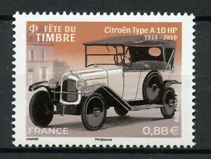 Francia-2019-estampillada-sin-montar-o-nunca-montada-Dia-del-sello-elegante-coches-Citroen-Tipo-a-10