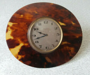 LOVELY-ANTIQUE-SMALL-BRASS-BEDSIDE-CLOCK-NEEDS-WORK-8-DAY-4-1-2-X-4-INCH
