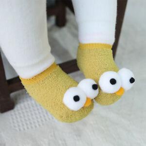 Cartoon Newborn Baby Infant Big Eyes Anti Slip Slipper Floor Socks Shoes USA