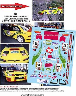 Decals 1/32 Ref 0309 Subaru Impreza Wrc Jacquillard Rallye L Charbonnieres 2000
