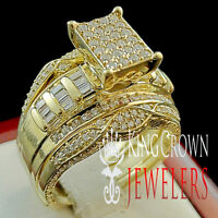 14k Yellow Gold Finish Real Silver Enhancer Lab Diamonds Ring Guard Wrap Band