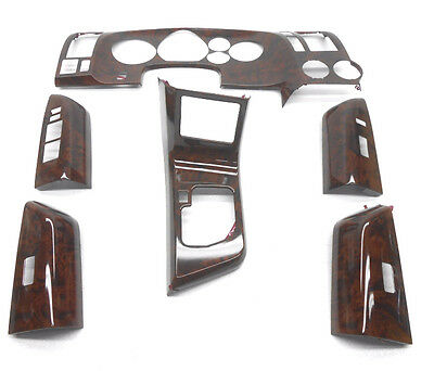 New OEM Toyota Sequoia Front Dash Trim Kit Applique Regal Burlwood PTS10-0C080