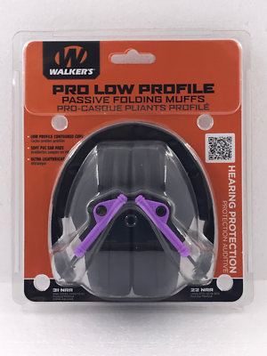 Walkers GWP-FPM1 Pro Low Profile Passive Earmuffs Hearing Protection Shooting