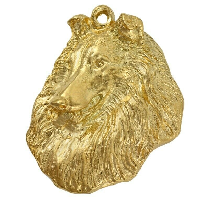 Rough Collie - Gold coverot keyring with with with dog box high quality Art Dog 45ec54