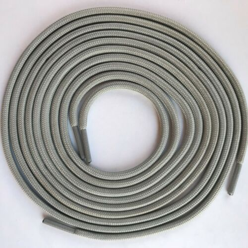 2 pairs Gray round boot laces shoelaces for hiking work boots shoes 55 40 inches
