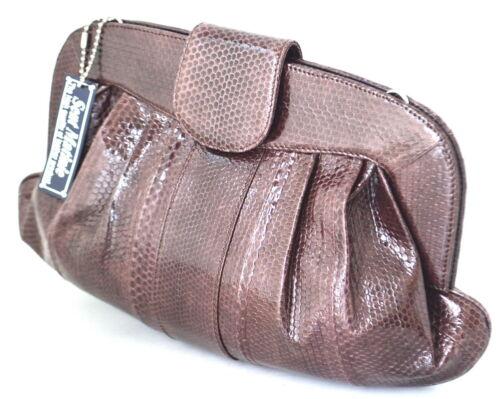 100cuir véritable brun sac à bourse hobo 8111164770509 sac main chaîne serpent 4LcAjq35R