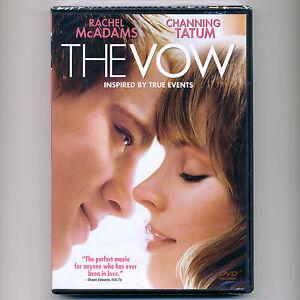 The Vow 2012 PG-13 romantic drama movie, new DVD Rachel McAdams, Channing Tatum