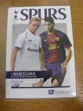 13/09/2012 Tottenham Hotspur U19 v Barcelona U19 [NextGen Series] (4 Pages). Tha