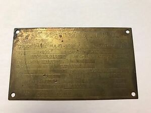 Vietnam-Era-US-Navy-Truck-ID-Plate