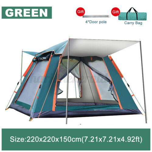Wurfzelt Pop Up 4-5 Personen Campingzelte Strandzelt mit Regenfliege Tragetasche
