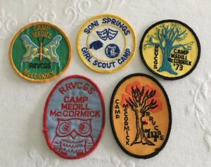 Girl Scout Patch Lot (5) Camp Medill McCormick Soni Springs