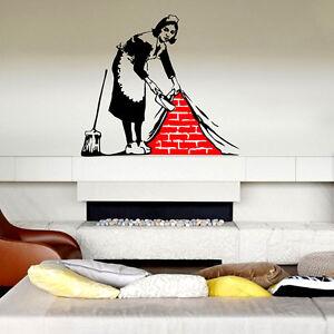 Banksy wandtattoo wandaufkleber wandsticker decal sticker aufkleber deko m dchen ebay - Wandtattoo banksy ...