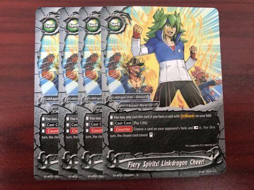 FUTURE Carte BUDDYFIGHT S-CBT01 LINKDRAGON commande Playset 4x chaque R /& C