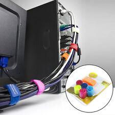 Colours 6pcs Multicolor wire Cord Cable Winder Band Marker Strap Wire Organizers