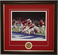 ALABAMA football The Goal Line Stand framed print & coin signed by Daniel Moore