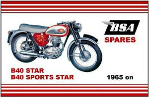 bsa parts manual b40 and ss90 1965 1966 and 1967 replacement spares rh ebay com BSA C15 bsa b40 wd workshop manual