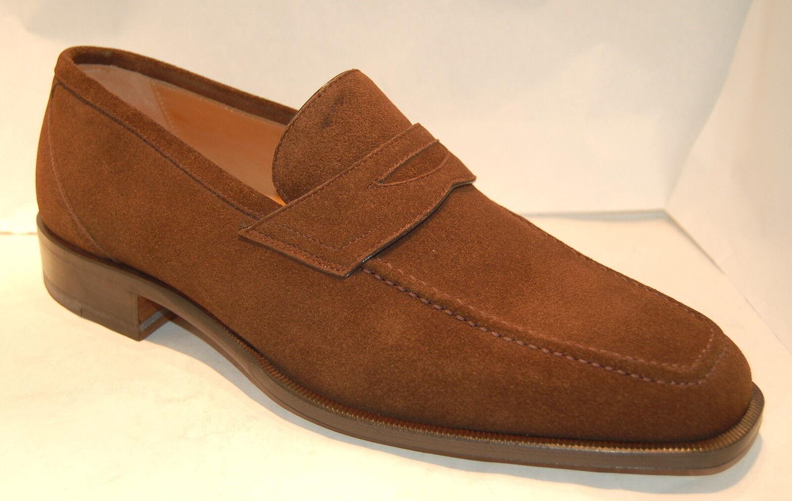 UOMO - 40 - PENNY LOAFER VIT. SUEDE - SUOLA CUOIO - Scarpe classiche da uomo