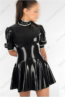 455 Latex Rubber Gummi Dress One-piece Skirt catsuit customized 0.4mm New casual