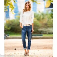 La Redoute WOMANS BORCHIE Basso Girovita Boyfriend Jeans Stretch UK 6 UE 34 69cm Gamba