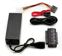 "USB 2.0 zu IDE + SATA Adapter Kabel 2,5"" 3,5"" 5,25"" Festplatten Konverter SET@"