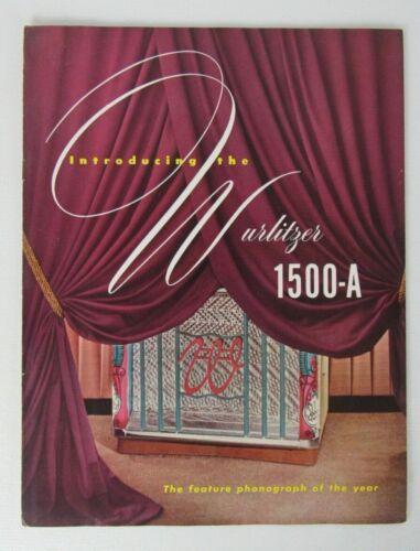 Booklet Wurlitzer 1500-A Jukebox Advertising Flyer