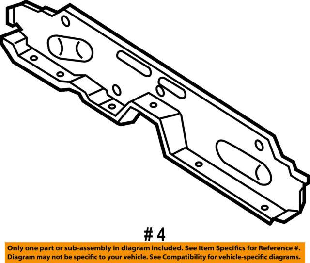 Chrysler Oem Floor Rails Rear Rear Crossmember 5014458ad