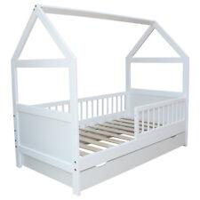 Kinderbett / Juniorbett Bett Haus 160x70 cm mit Schublade weiss