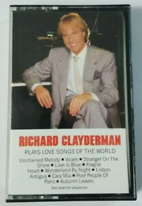 Richard Clayderman Cassette Plays Lovesongs of the World 1986 Columbia Tape