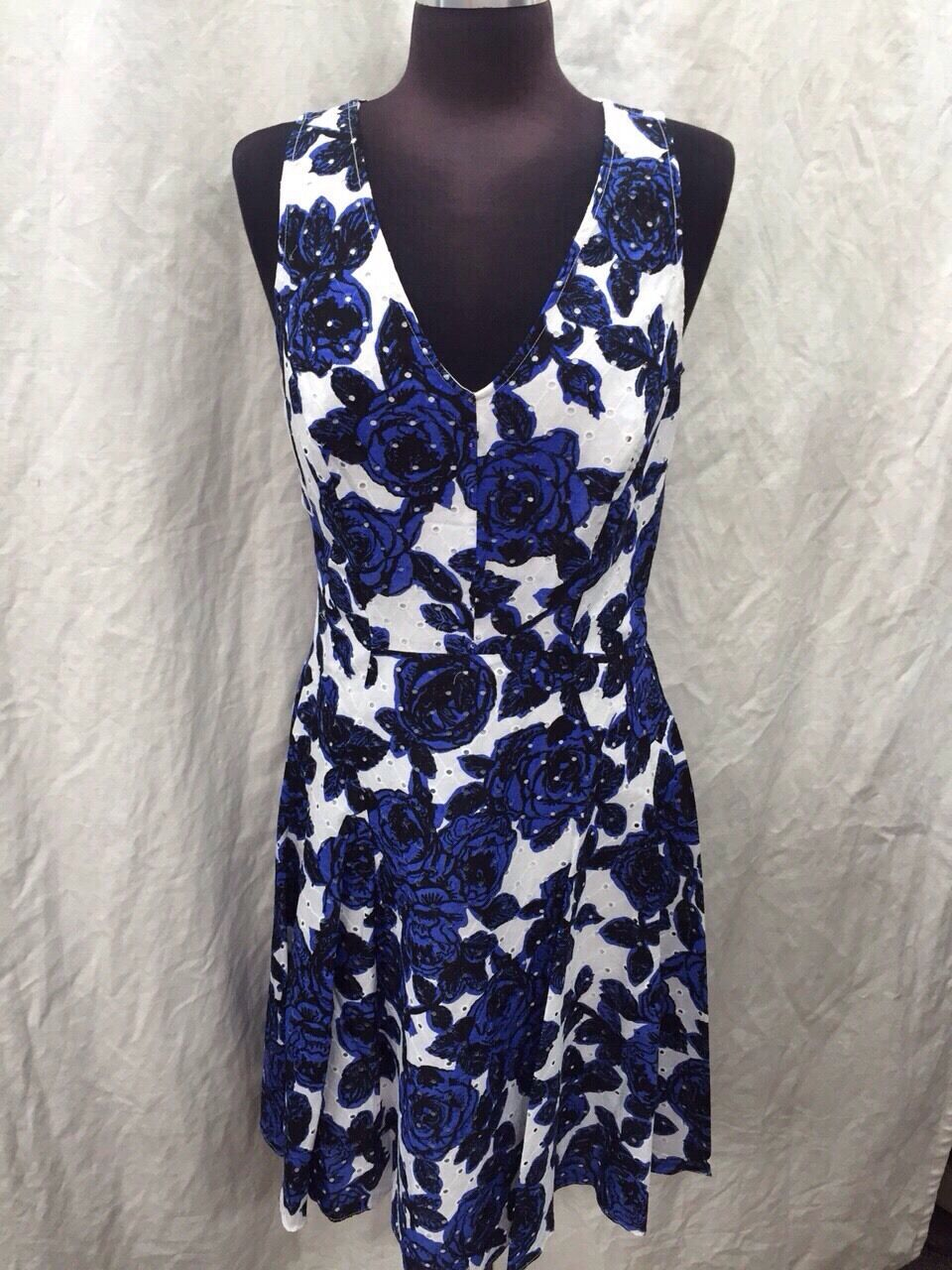 ADRIANNA PAPELL DRESS NEW WITH TAG RETAIL  SIZE 4 COTTON SMOKE FREE MACYS
