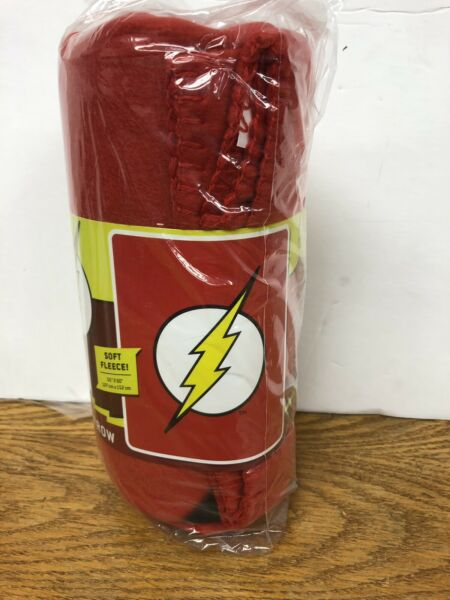 "The Flash Soft Fleece Throw Blanket Dc Comics Size 50"" X 60"" Betrouwbare Prestaties"