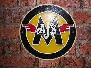 Cast Iron AJS/Matchless Wall Plaque