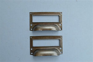 PAIR-OF-STEEL-FILING-CABINET-LABEL-HANDLE-FILE-DRAWER-PULL-FURNITURE-HANDLES-FD1