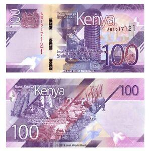 Kenya-100-Shillings-2019-P-New-Prefix-039-AB-039-Banknotes-UNC