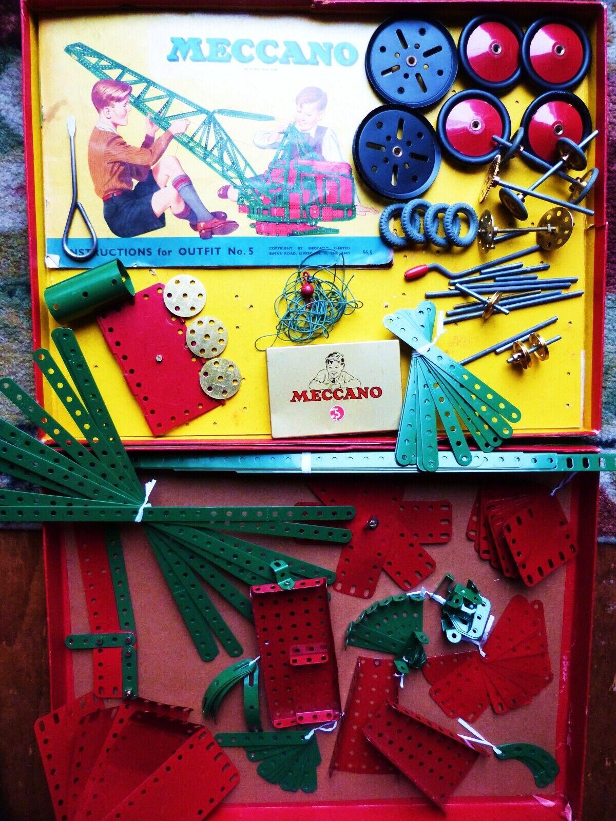 VINGAGE MECCANO ERECTOR ERECTOR ERECTOR SET OUTFIT no 5 ENGLAND ORIGINAL BOX 1f1991