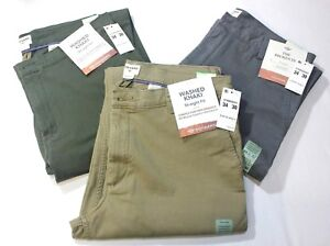 Men-Dockers-Washed-Khaki-Straight-Fit-Stretch-98-Cotton-Beige-Olive-Gray