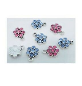 4-mixed-Rhinestone-flower-charm-pendants-size-15x-10mm