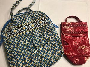 LOT OF 2 VERA BRADLEY FLORAL QUILTED PURSE TOTE Medium And Small  57016b31265ee