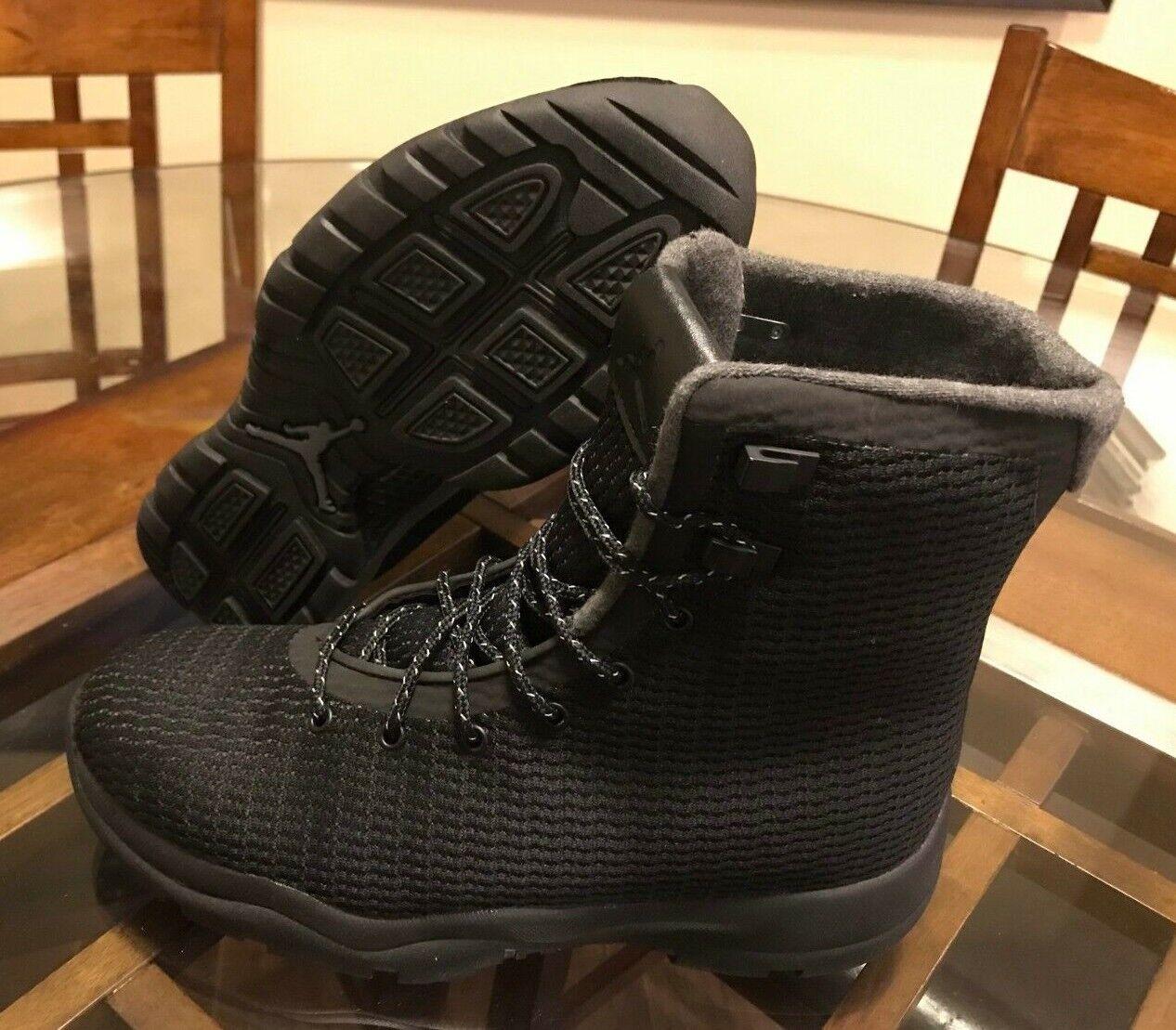 225 Nike Air Jordan Future Boot Black Dark Grey Waterproof 854554-002 Size 8.5